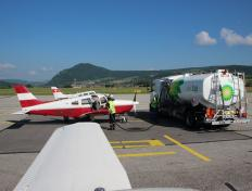 Refuelling in Annecy, France (LFLP)