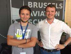 Arnaud (and his main instructor Cédric), private pilot since 19 July 2017