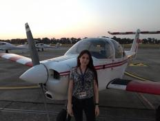 Astrid, first solo on 22 September 2020, Charleroi airport