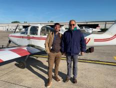 Bernard, private pilot since 13 May 2019, and his examiner Louis Philippe