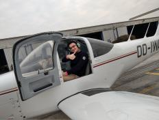First solo flight for Costin on 25 March 2018 (Charleroi airport)