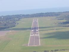 On final, aerodrome of Deauville