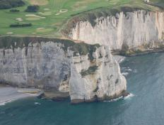 The beautiful cliffs of Etretat