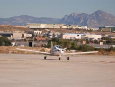 On the tarmac of Alicante's airport