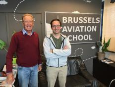 François, private pilot since 19 June 2018, and his PPL examiner Louis