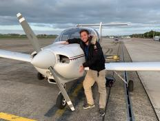 Gary, first solo on 22 October 2019, Charleroi airport
