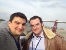 Athanasios & his instructor Gabriel - First solo on 20 March 2012