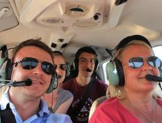En route to Gorna (LBGO), Bulgaria: Cedric, Valerie, Radu and Alexandra (28 June 2013)