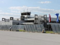 Osijek airport (LDOS), in Croatia, on 1 July 2013 (first day Croatia becomes officially part of the EU!)