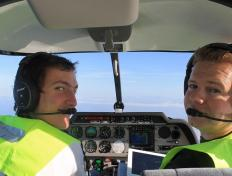 Charles-Edouard and Frédéric, 10,000 feet above the Mediterranean Sea (27 October 2013)