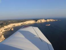 Formation flight above Bonifacio, Corsica (27 October 2013)