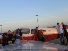 The group and the OO-JET in Olbia (LIEO), Sardinia! (27 October 2013)
