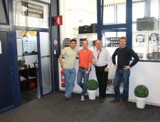 Gabriel, Maxime, Luc Halleux and Cedric. EBCI, 14 May 2012