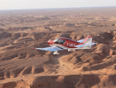 The F-HBIT overflying the Algerian desert (29 October 2013)