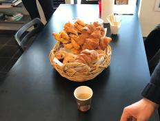Belgian Croissants for breakfast, thank you Barbara...