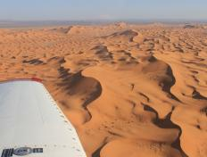 Flying above the first sand dunes of the Sahara - Sunday 4 November 2012