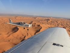 Formation flight with the DEGLA, Sahara - Sunday 4 November 2012