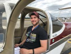 Leonard, first solo on 25 June 2017, Charleroi airport