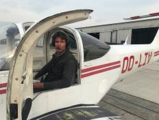 Nicolas, first solo on 5 April 2019, Charleroi airport