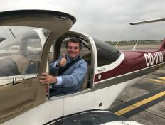 Nicolas, first solo on 25 October 2017, Charleroi airport