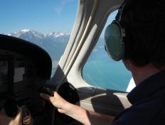 Cédric, captain of the OO-JET, above the Lake Léman