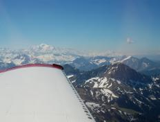 On our way to Annecy, abeam the Mont Blanc!
