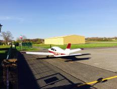The OY-PHK in France (LFHV)