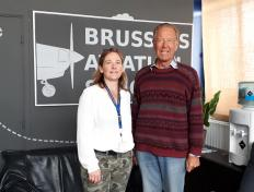 Petra, private pilot since 27 March 2019, and his examiner Louis Philippe
