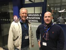 Philippe, private pilot since 13 October 2016, with his examiner Louis