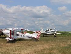 Our airplane at the fly-in of Drobeta airfield (Romania), 28 June 2013