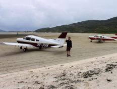 Just landed on Barra Beach Airfield!