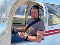 Alexey, first solo on 28 April 2021, Charleroi airport (EBCI)