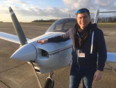 Artur, first solo on 18 January 2020, Charleroi airport
