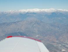 Flying by the Sierra Nevada, at 10,000 ft AMSL