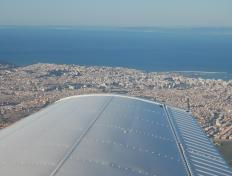 Flying above Tangier...in front of us: Europe