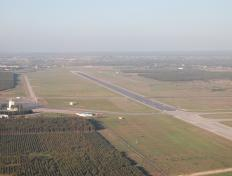 And finally, after 16 hours of flight and 1300 nautical miles, the runway of Rabat...