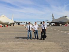 The three Captains, ready to take off for Algeria ;-) (29 October 2013)