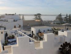 View from our hotel in Essaouira, Morocco - Saturday 3 November 2012