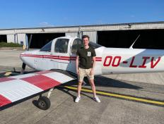 Joost, first solo on 31 May 2021, Charleroi airport (EBCI)