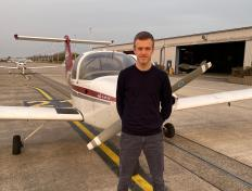 Nicolas, first solo on 25 February 2021, Charleroi airport (EBCI)
