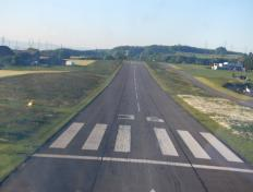 Almost touch down, runway 36, LSGL !