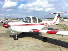 Our Piper Tomahawk PA38, OO-LIV, in Charleroi (Belgium)