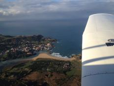 Flying along the Spanish basque coastline - Sunday 28 October 2012