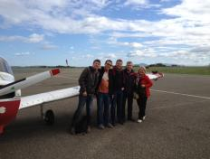 Some of the pilots in Biarritz (LFBZ) for the lunch break - Sunday 28 October 2012