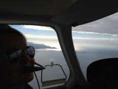 Valerie, just passing the Portuguese border - Monday 29 October 2012