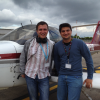 Bartosz and his instructor Gabriel - Student pilot (first solo on 11 June 2012)