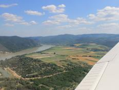 The Danube River between Budapest and Bratislava