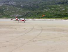 The OO-JET, just landed on Barra Beach
